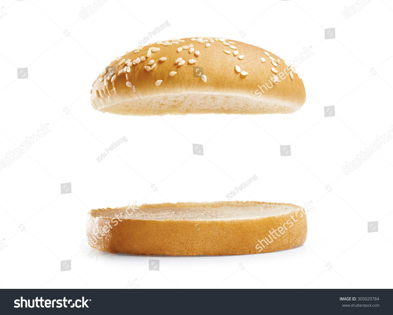 burger bread isolated on white background