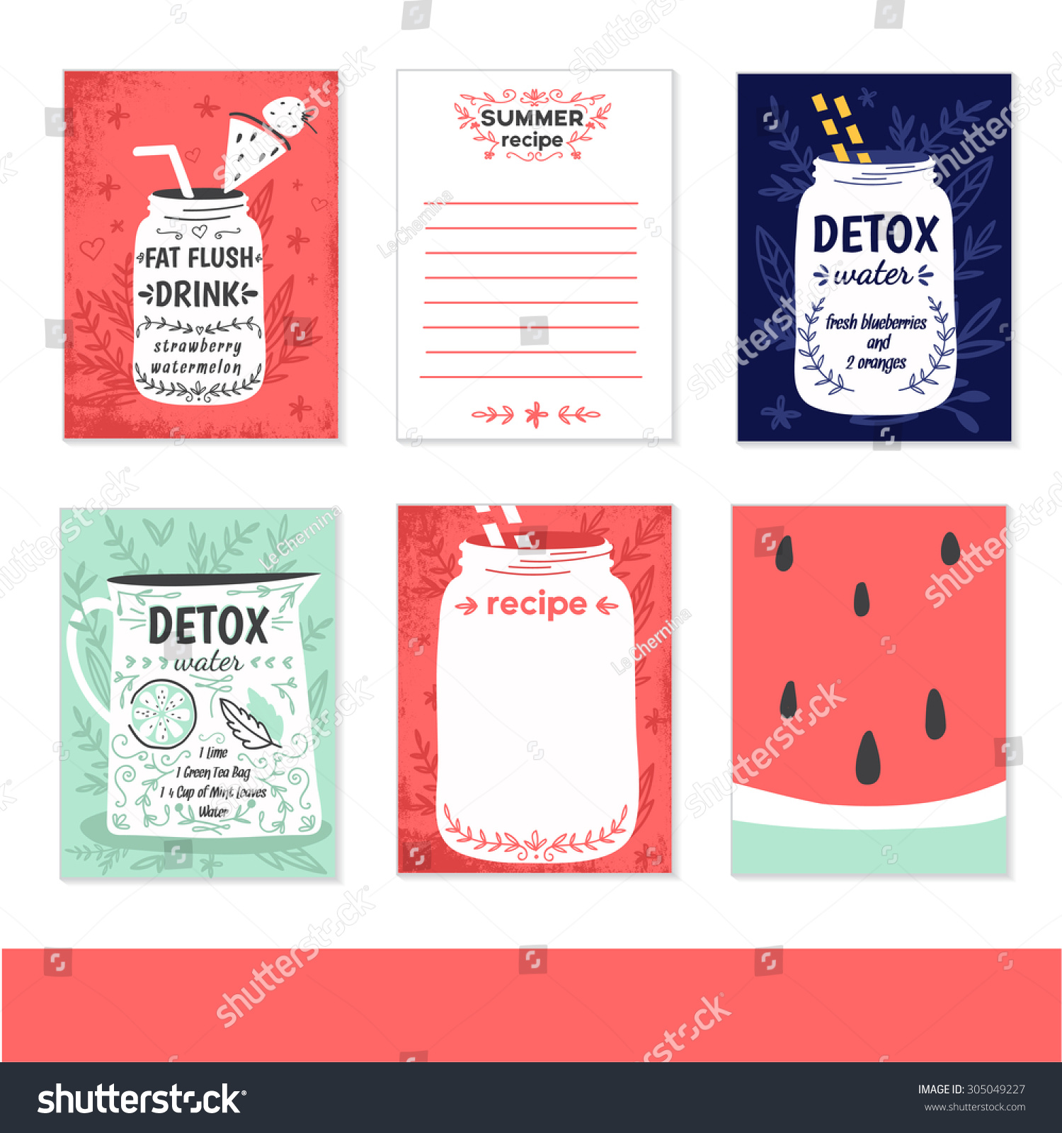 Cooking Cards Notes Stickers Labels Tags Stock Vector (Royalty Free ...