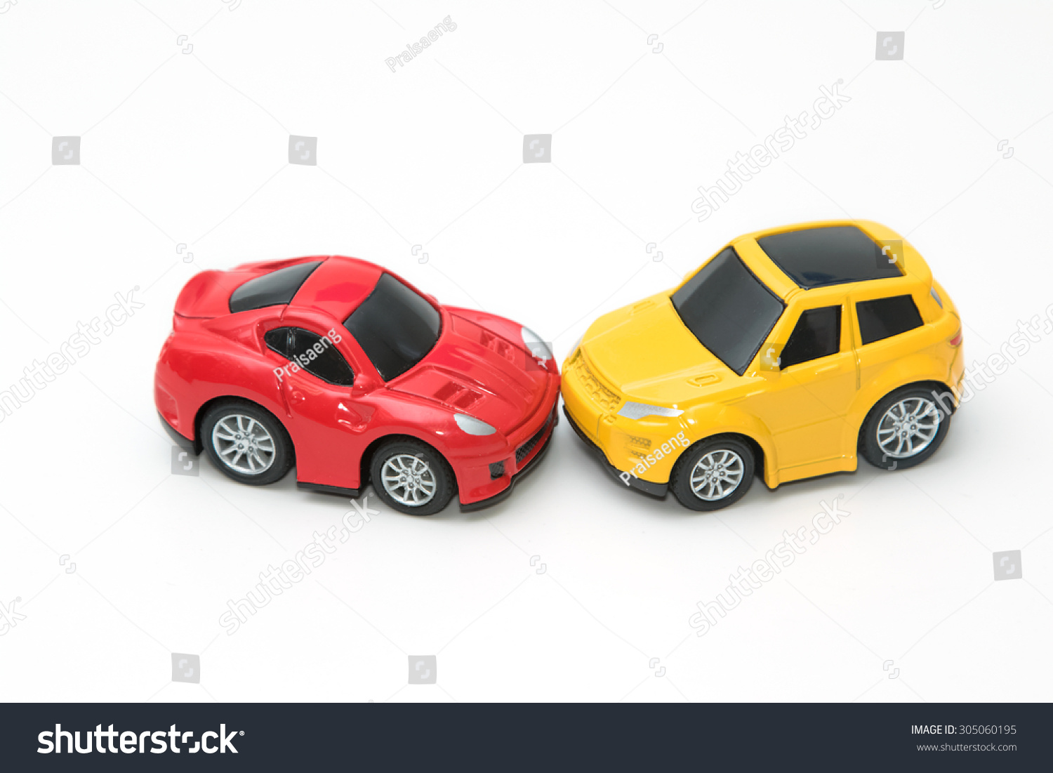 Safest car color accidents - Toy Cars In Accident On A White Background Concept Safety Car