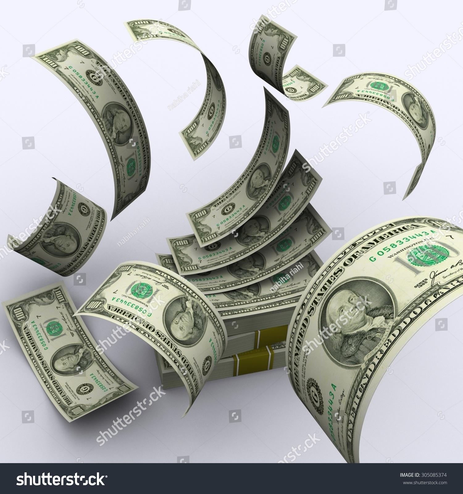 dollar bills falling on - photo #42