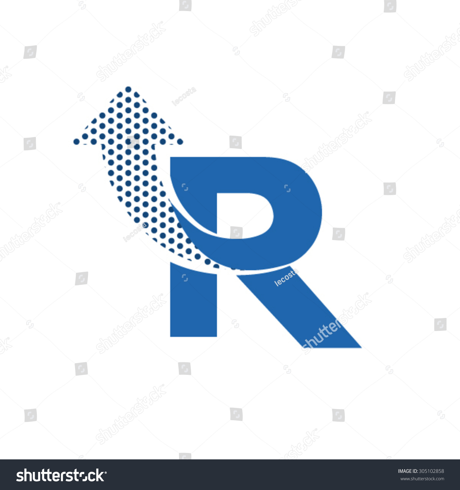 R Letter Logo Design. Stock Vector Illustration 305102858 ...
