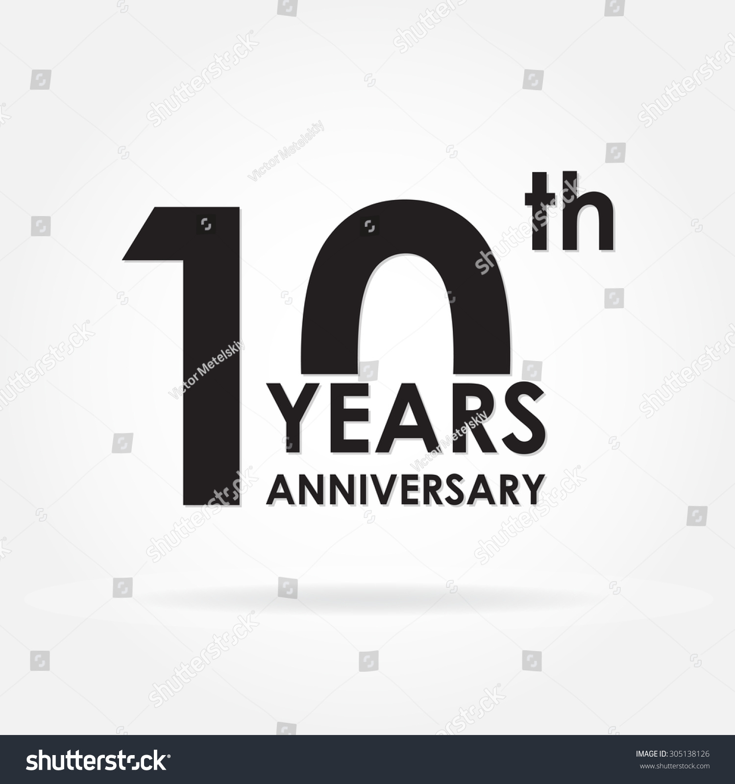 10 years anniversary sign emblem template stock vector royalty free