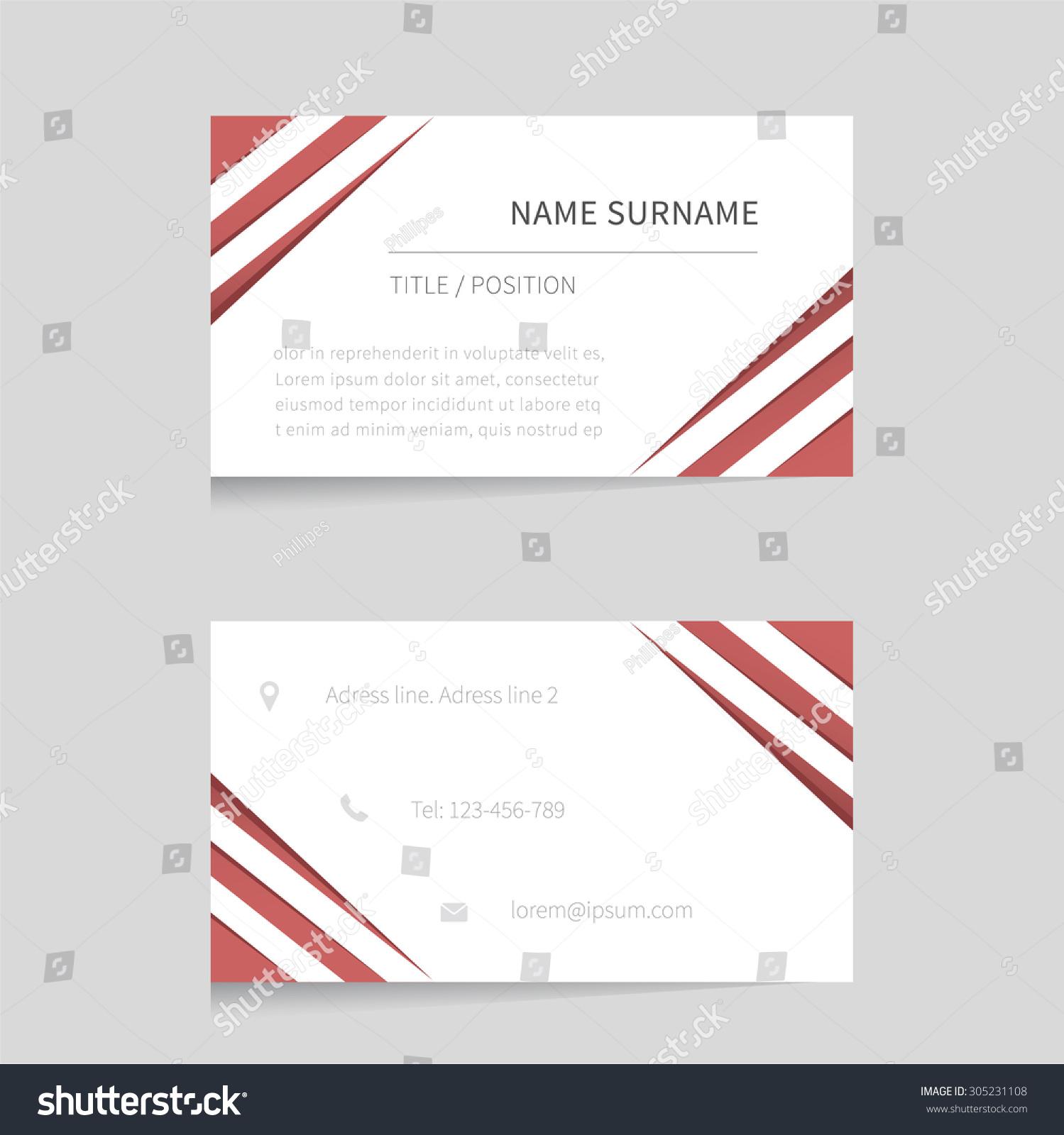 Vector business card template modern business card for Business card presentation template
