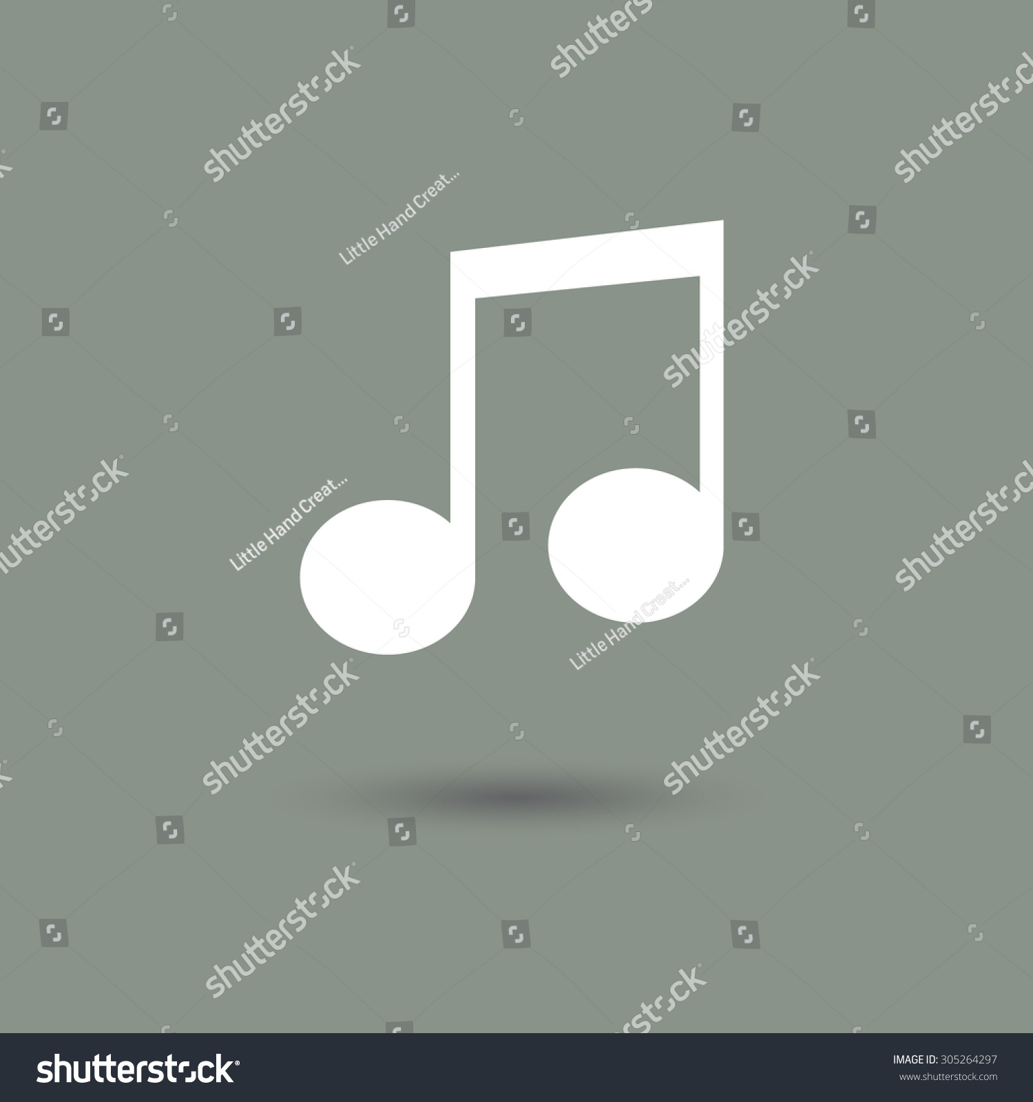 Sheet music icon modern style shadow stock vector 305264297 sheet music icon in modern style with shadow and gray background symbol of song and buycottarizona