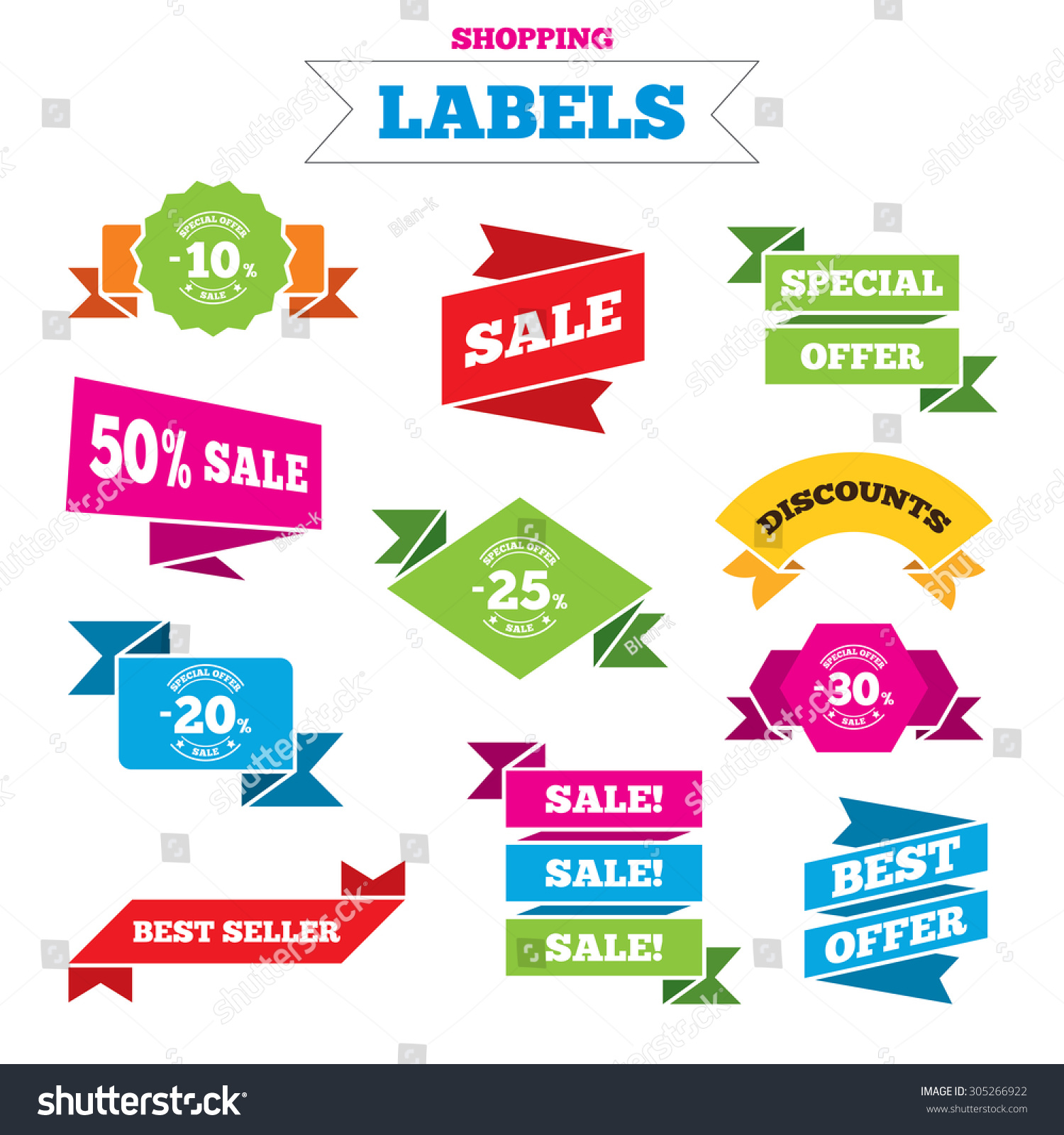 Sale shopping labels sale discount icons stock vector 305266922 sale shopping labels sale discount icons special offer stamp price signs 10 biocorpaavc Choice Image