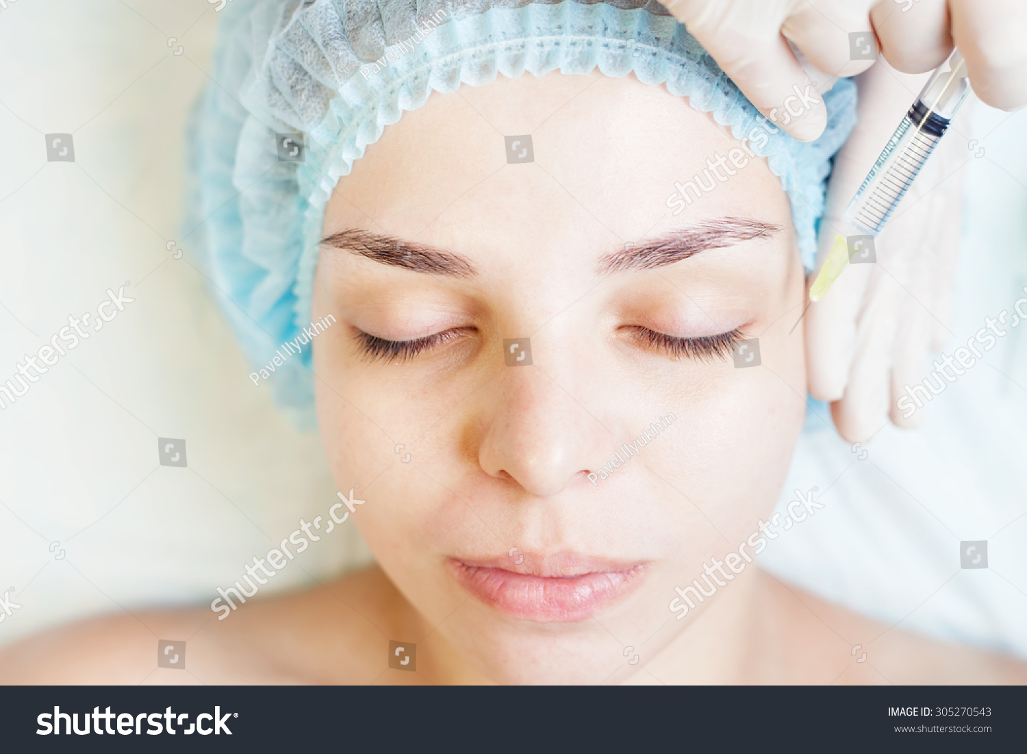 Cosmetologist spa beauty salon doing acne stock photo for Acne salon treatments