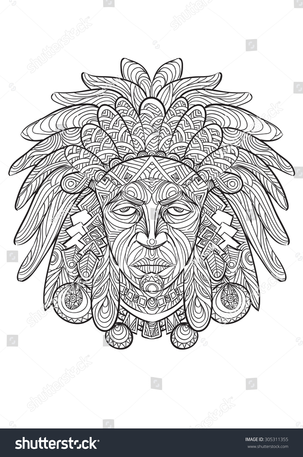 Uncategorized Drawing Of Indian hand drawing indian zentangle style stock vector 305311355 of in style
