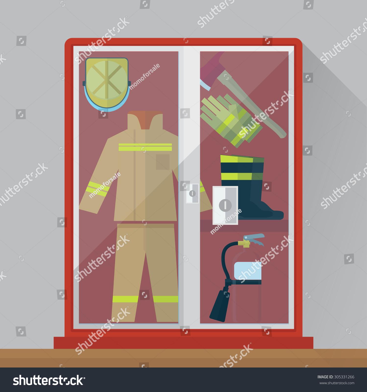 Fire Equipment Cabinet Fire Equipment Cabinet Stock Vector 305331266 Shutterstock