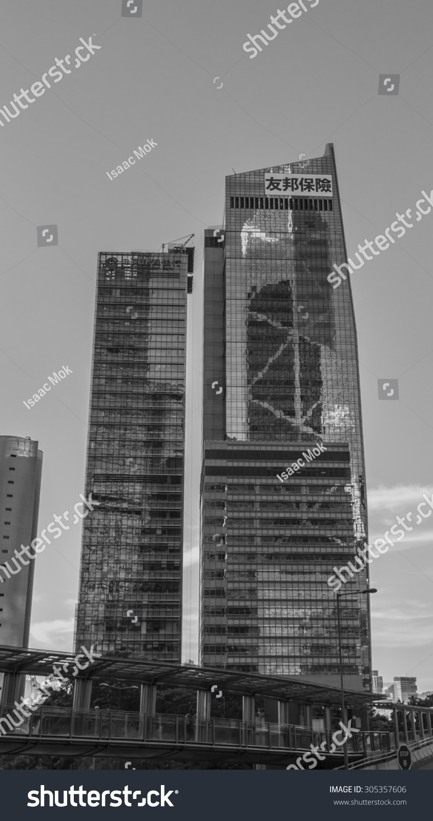 The aia central aig tower in black and white central for Hong kong architecture firms