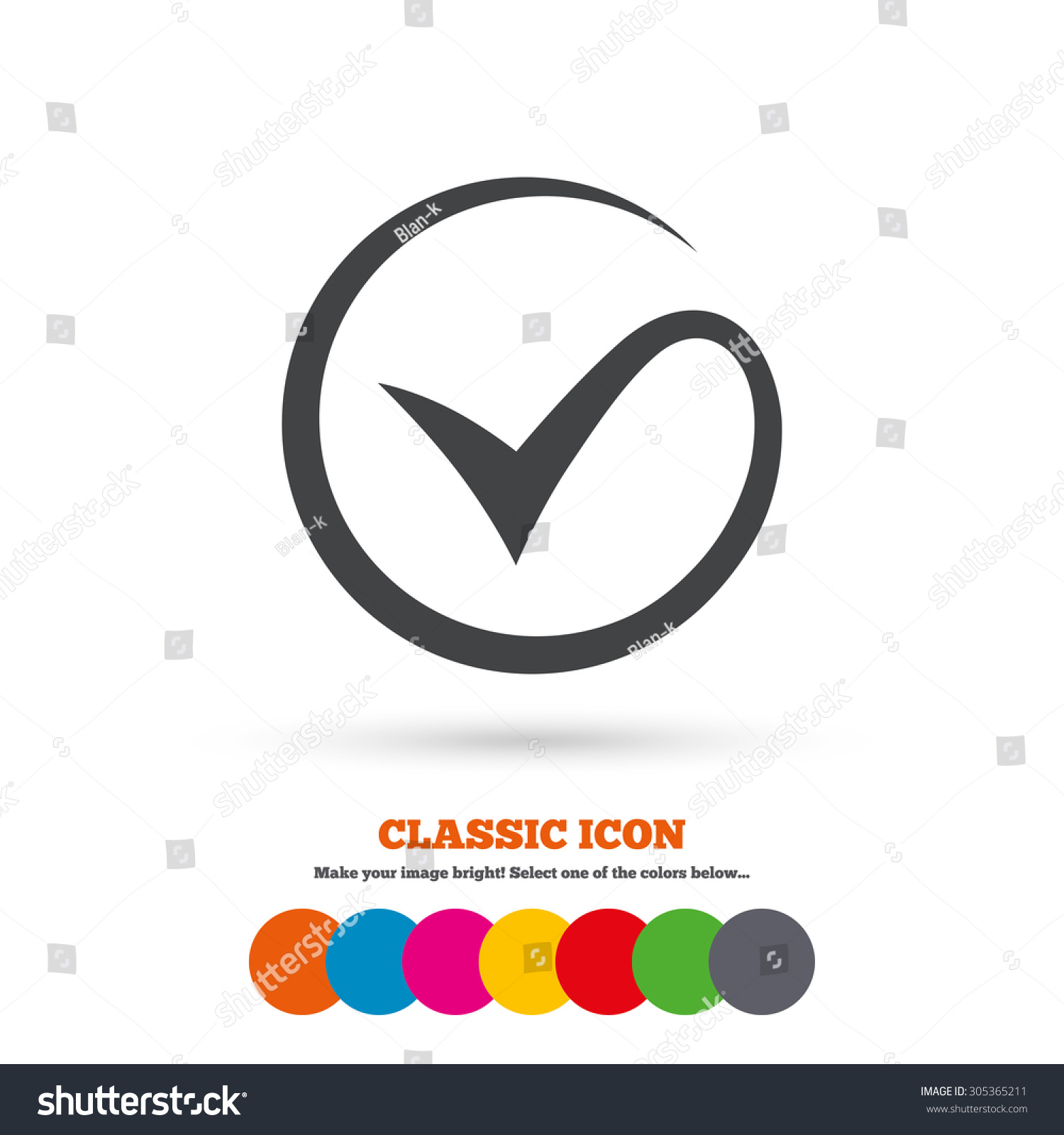 Tick Sign Icon Check Mark Symbol Stock Vector 2018 305365211