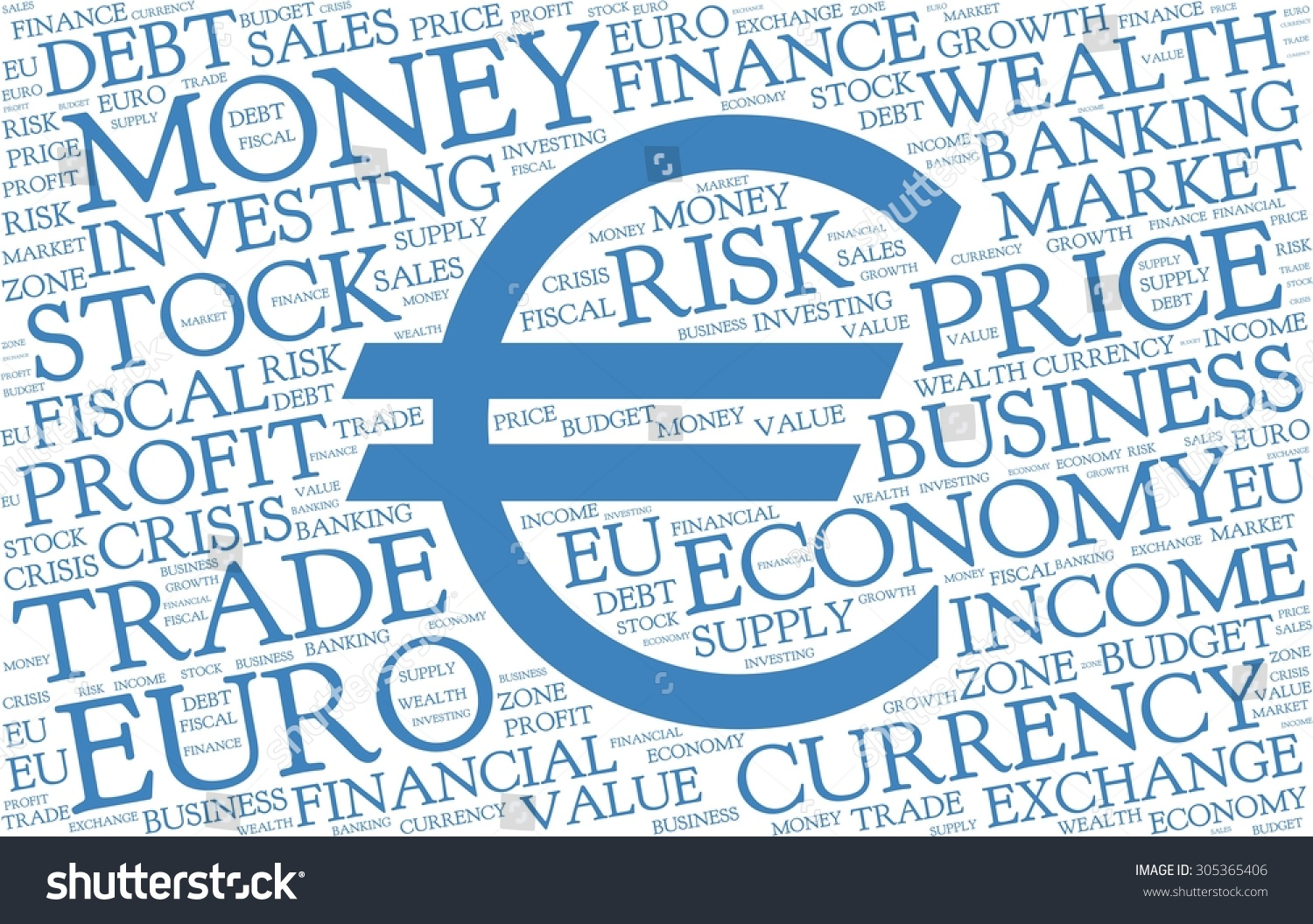 Euro word cloud symbol currency blue stock vector 305365406 euro word cloud with symbol of currency blue text on white background biocorpaavc Gallery