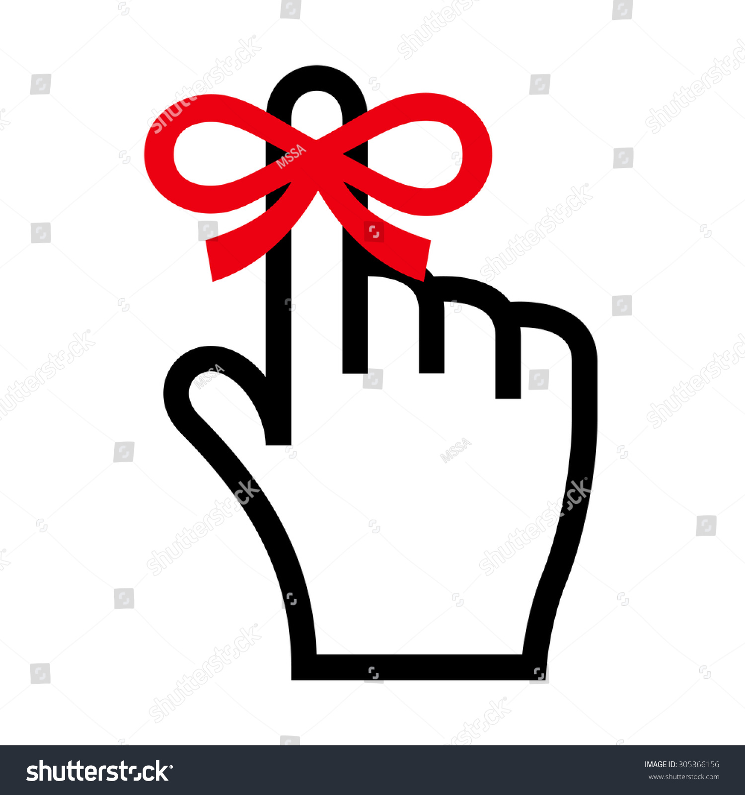 Reminder Icon Hand Finger On Which Stock Vector 305366156 ...