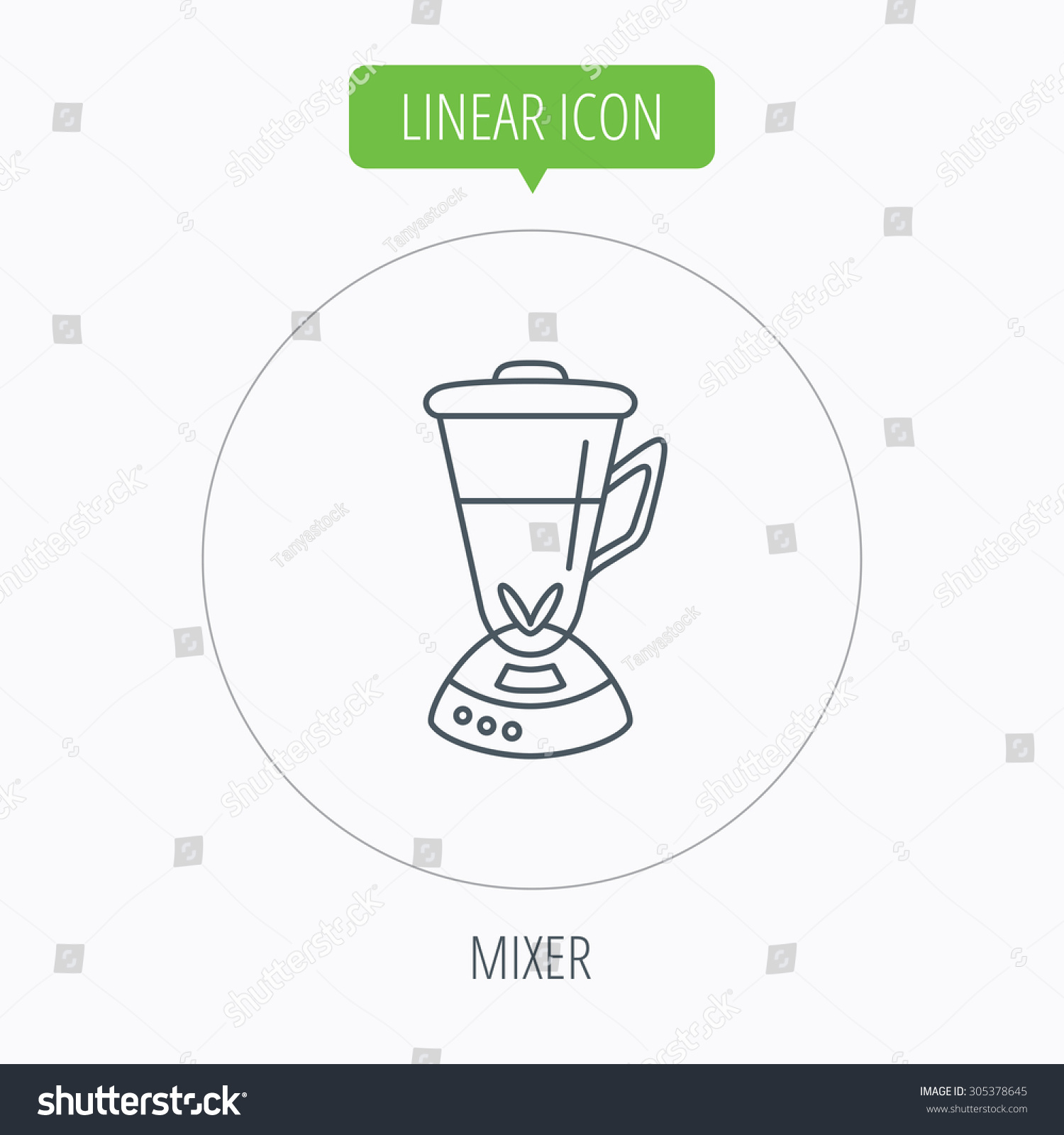 Electric Mixer Outline ~ Mixer icon blender sign kitchen electric tool symbol