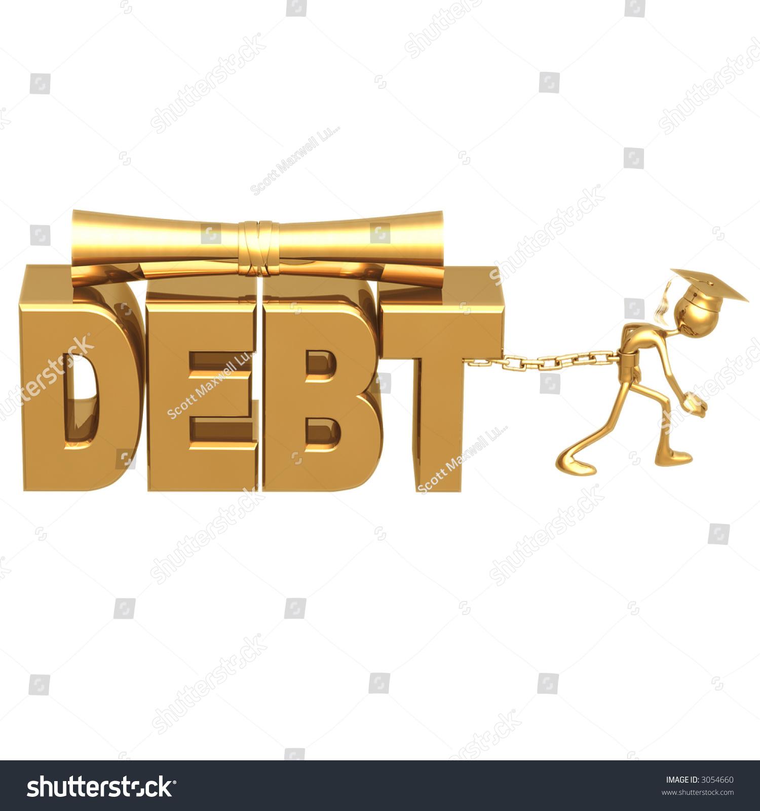 golden grad chained to education debt graduation concept stock photo 3054660 shutterstock. Black Bedroom Furniture Sets. Home Design Ideas
