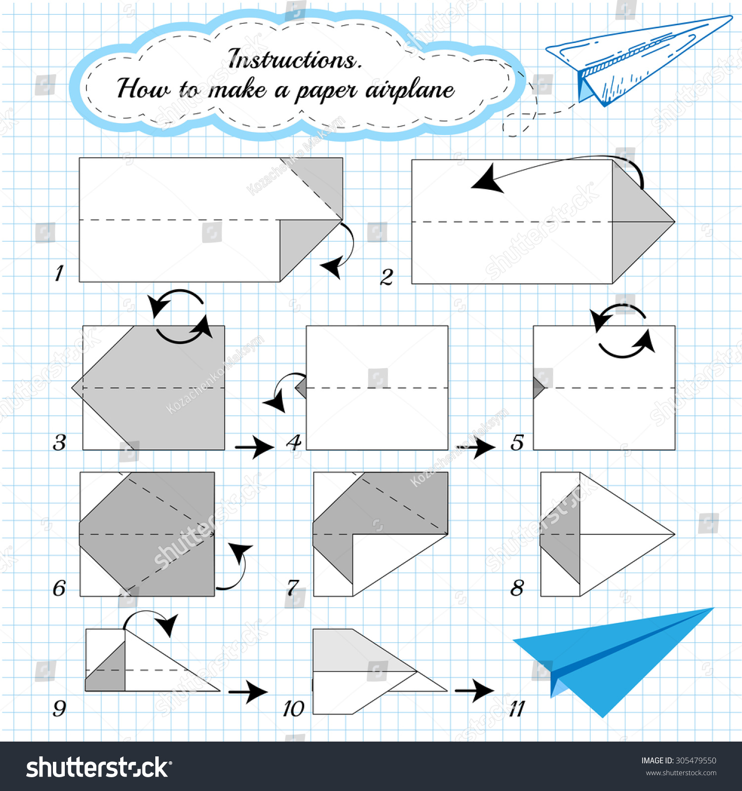 how to make paper airplanes written instructions