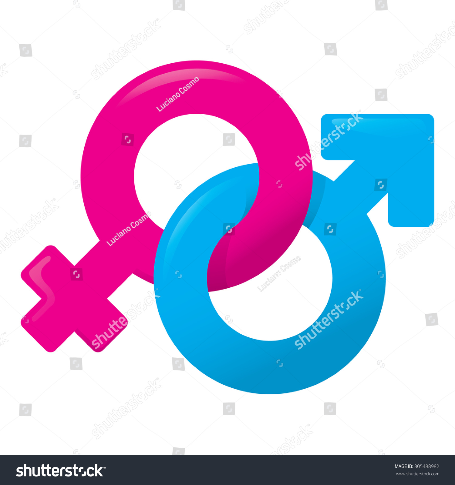 Heterosexual male symbol
