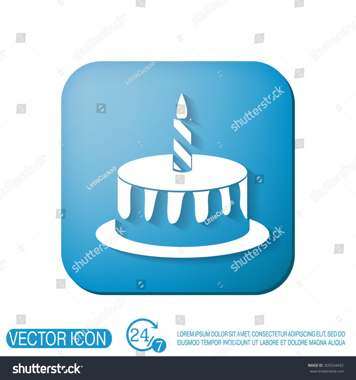 Birthday Cake Icon Symbol Cake Celebrating Stock Photo Photo