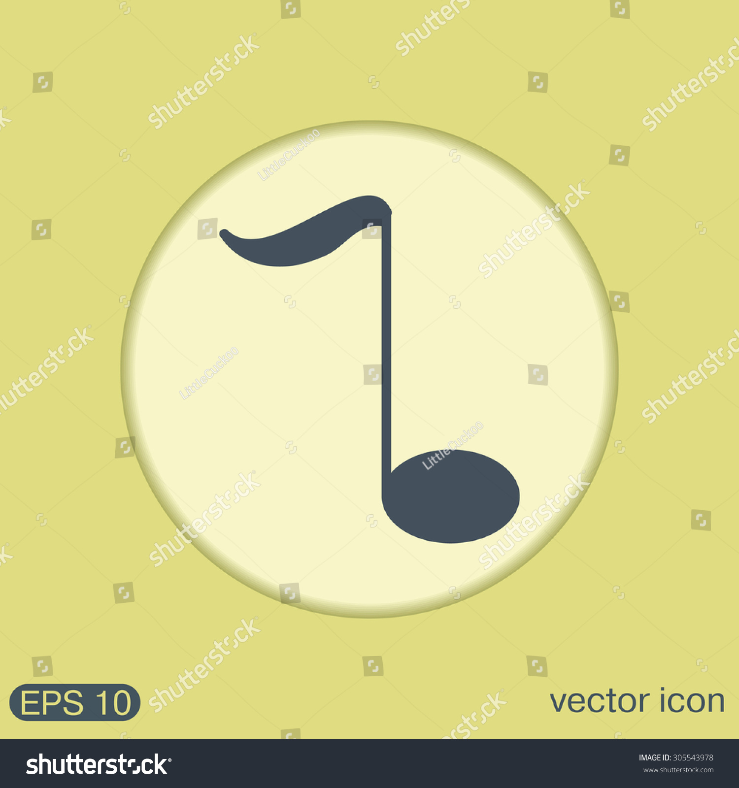 musical note sign. character singing and the music industry | EZ Canvas
