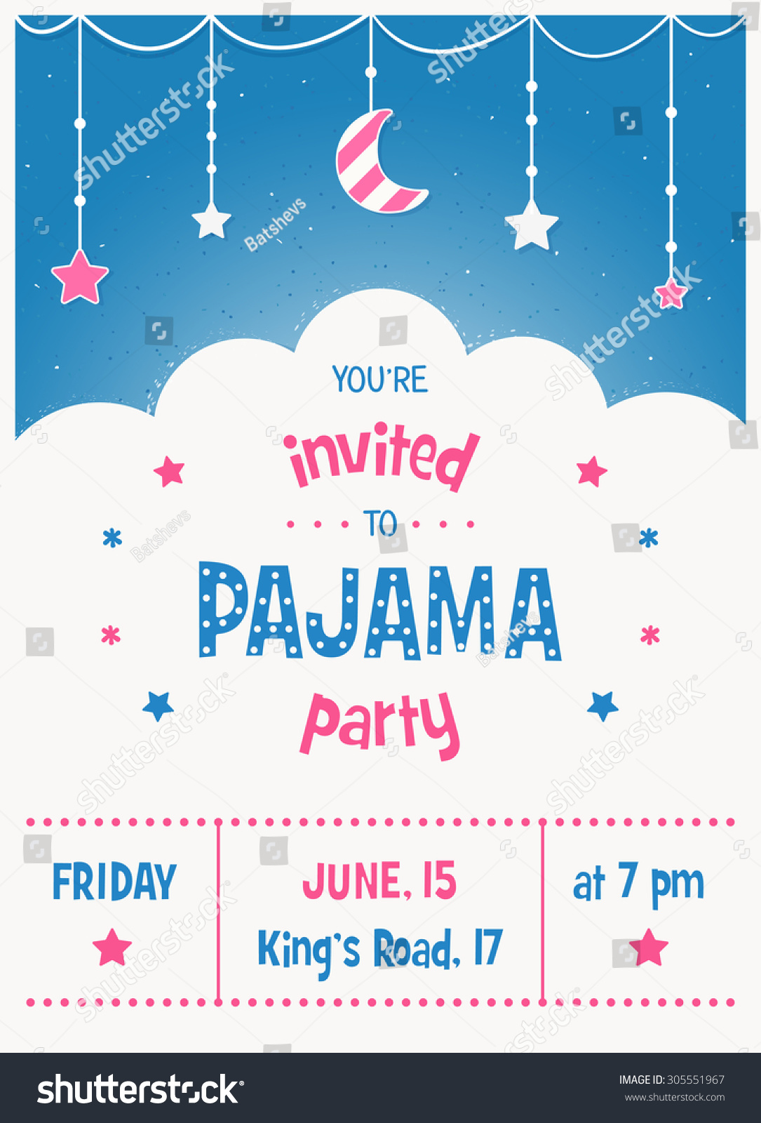 pajama party free flyer psd template facebook cover by
