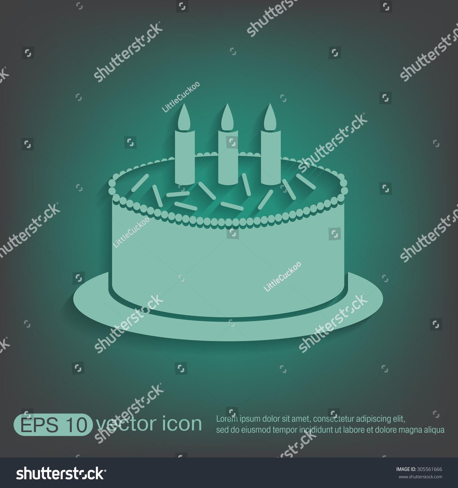 Birthday cake icon symbol cake celebrating stock vector 305561666 birthday cake icon symbol of cake celebrating the birthday of the loaf buycottarizona