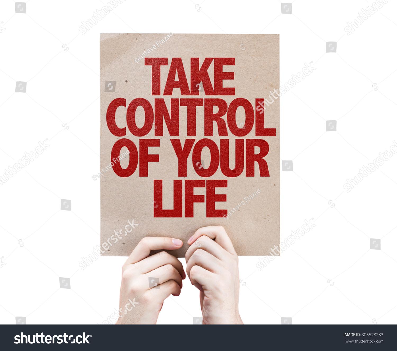Prendi il controllo della tua carta di vita isolato Archivio Fotografico 305578283 - Shutterstock-5445