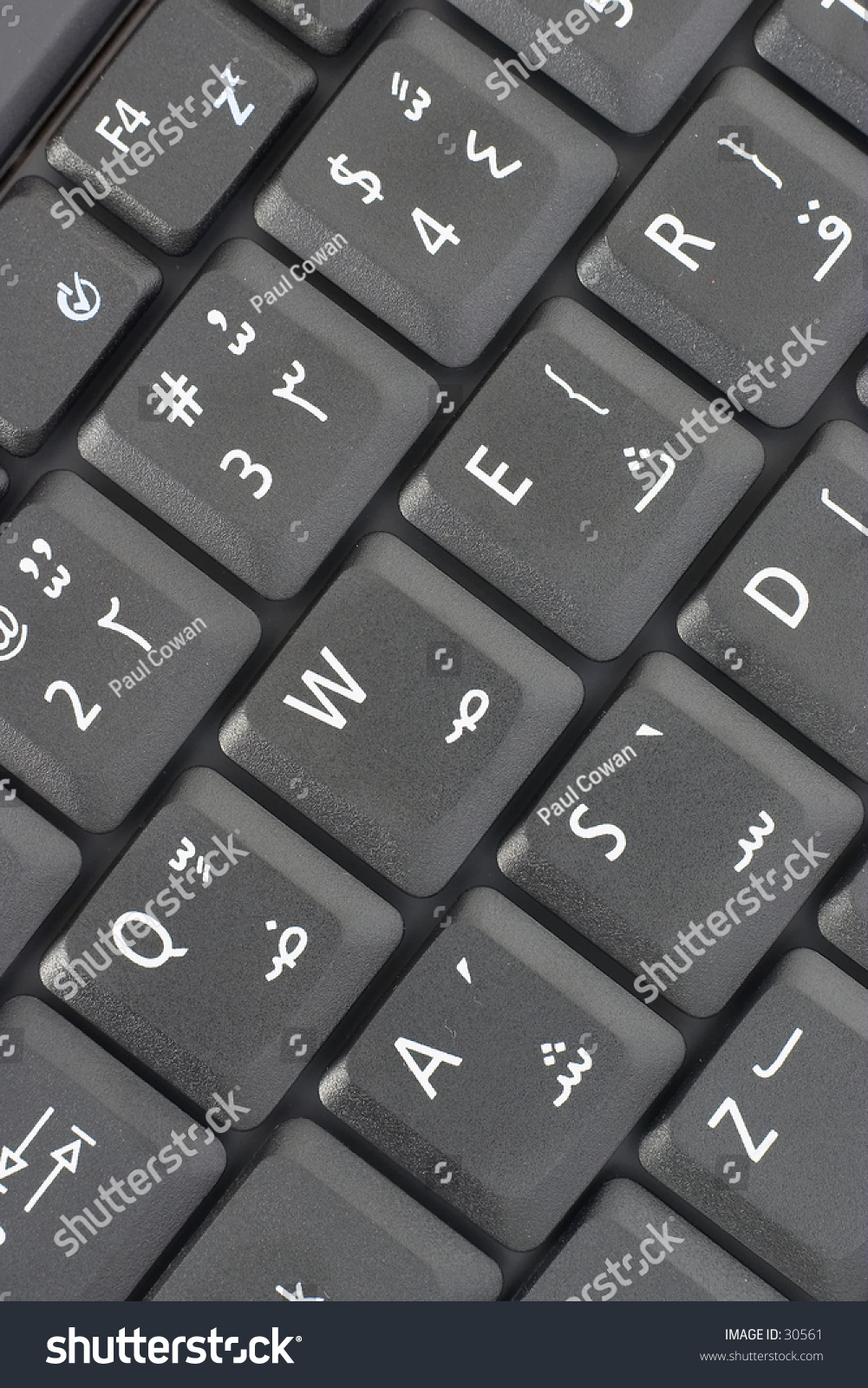 Keyboard Arabic Enabled Computer Showing Letters Stock Photo