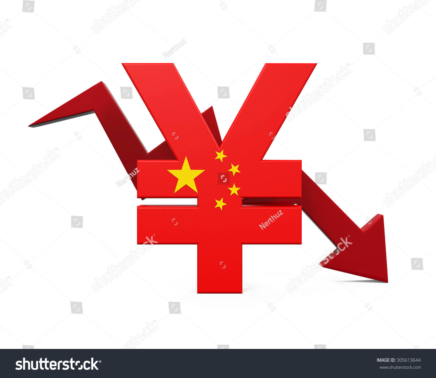 Chinese yuan symbol red arrow stock illustration 305613644 chinese yuan symbol and red arrow buycottarizona Gallery