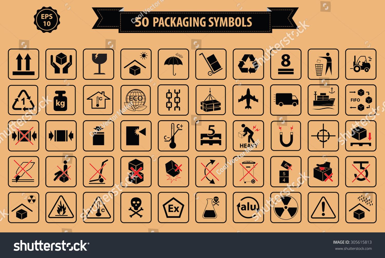 Set packaging symbols this side up stock vector 305615813 set of packaging symbols this side up handle with care fragile keep buycottarizona