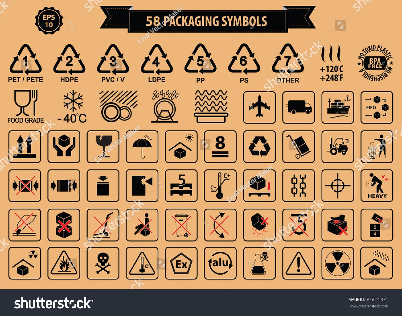 Set packaging symbols this side up stock vector 305615834 set of packaging symbols this side up handle with care fragile keep buycottarizona