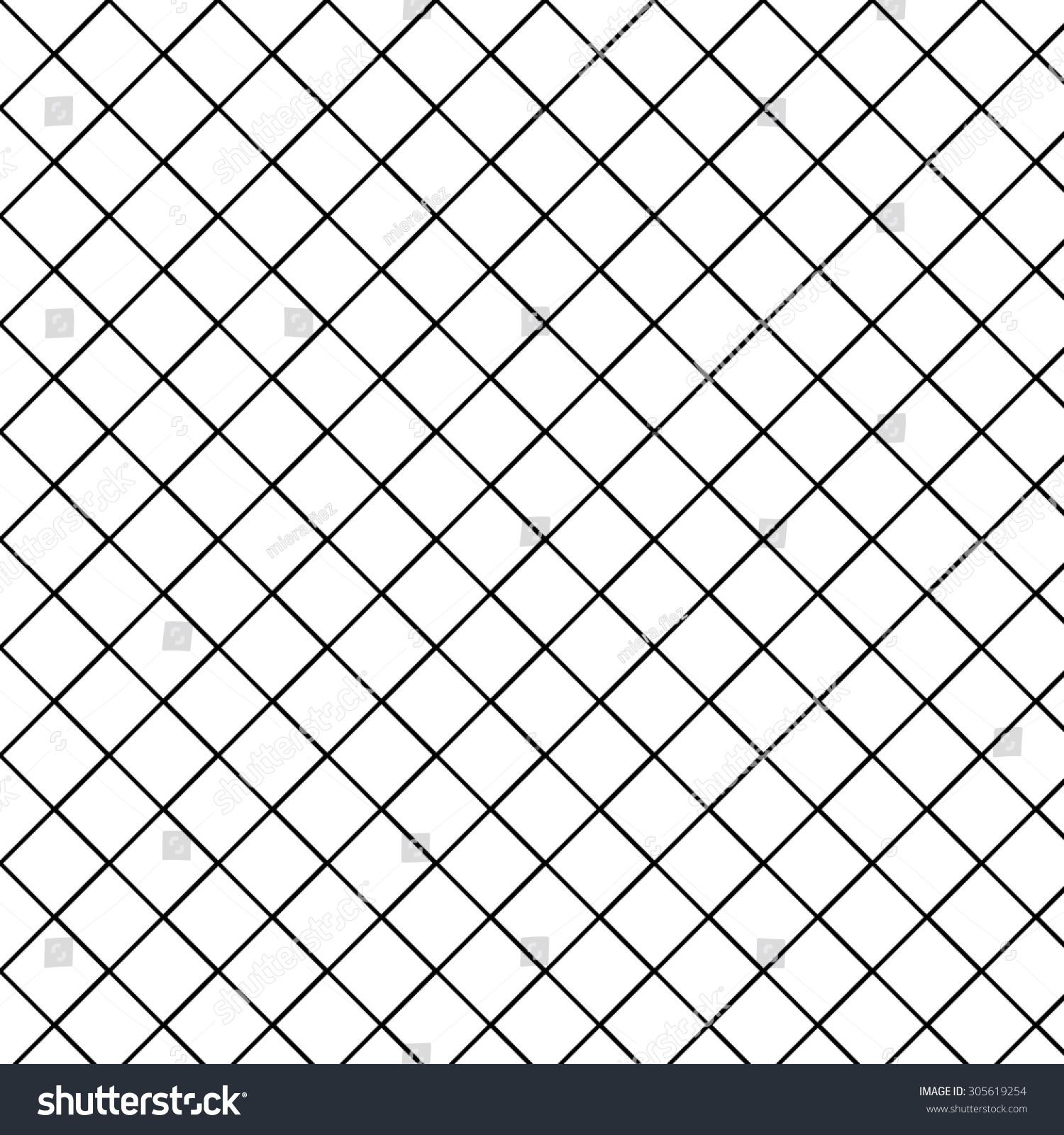 diamond pattern white background black line stock