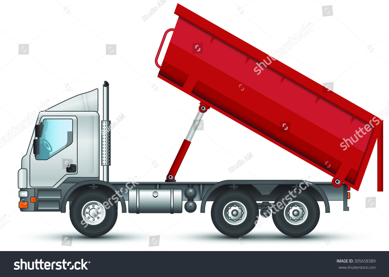 Dump Truck Unloading Cargo