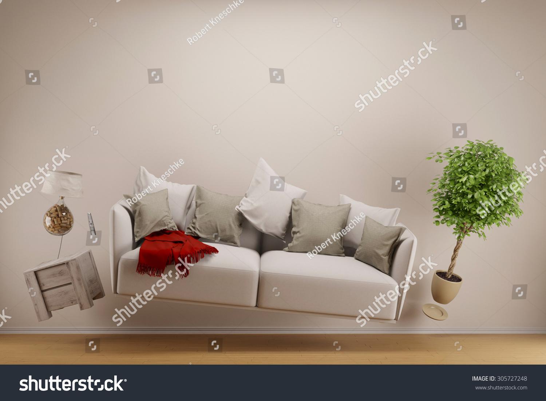 Zero gravity living room hoovering sofa stock illustration - Zero gravity recliner chair for living room ...