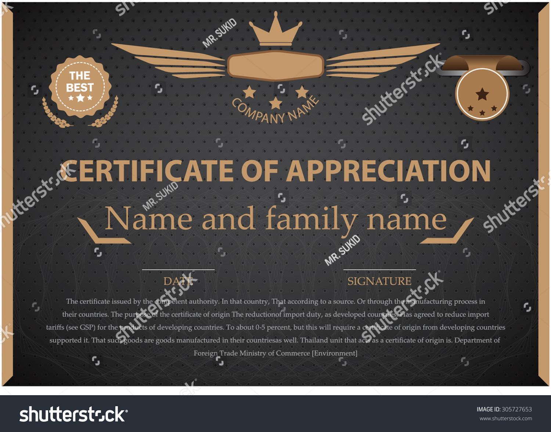 Certificate Templates Design Certificate Vector Stock-Vektorgrafik ...