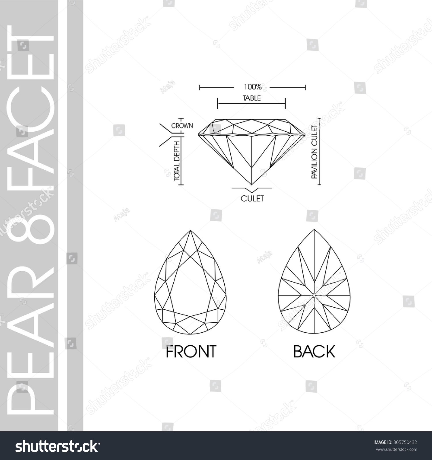p cut ring gold facet princess white carat diamond