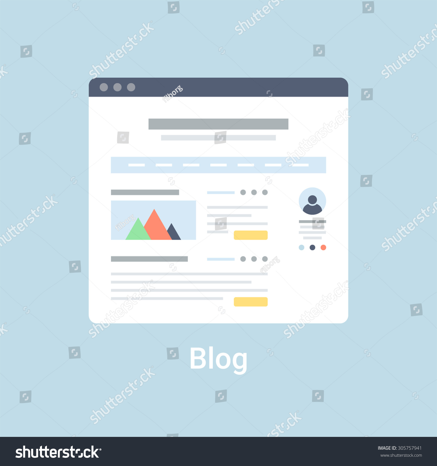 Template interface interface control document download ms word blog website wireframe interface template flat stock vector pronofoot35fo Image collections