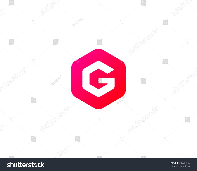 Abstract letter g logo design template colorful creative hexagon id 305798168 maxwellsz