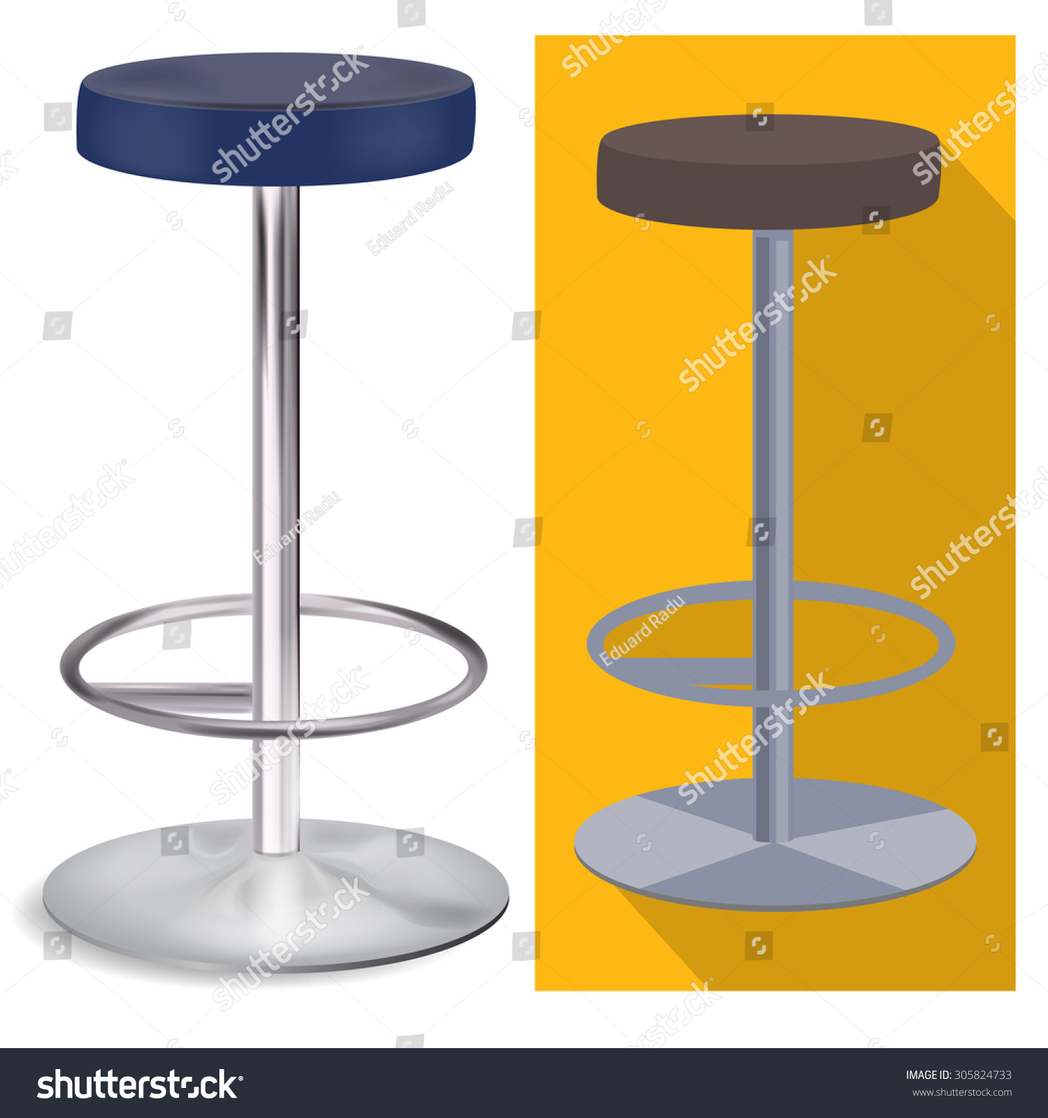 Bar Stool Stock Vector Illustration 305824733 Shutterstock : stock vector bar stool 305824733 from www.shutterstock.com size 1500 x 1600 jpeg 293kB