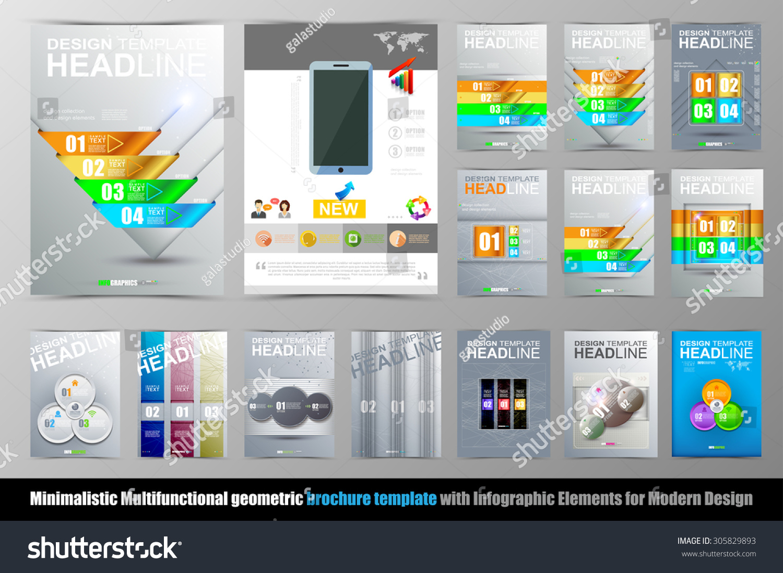 Modern green brochure design, brochure template, brochures.