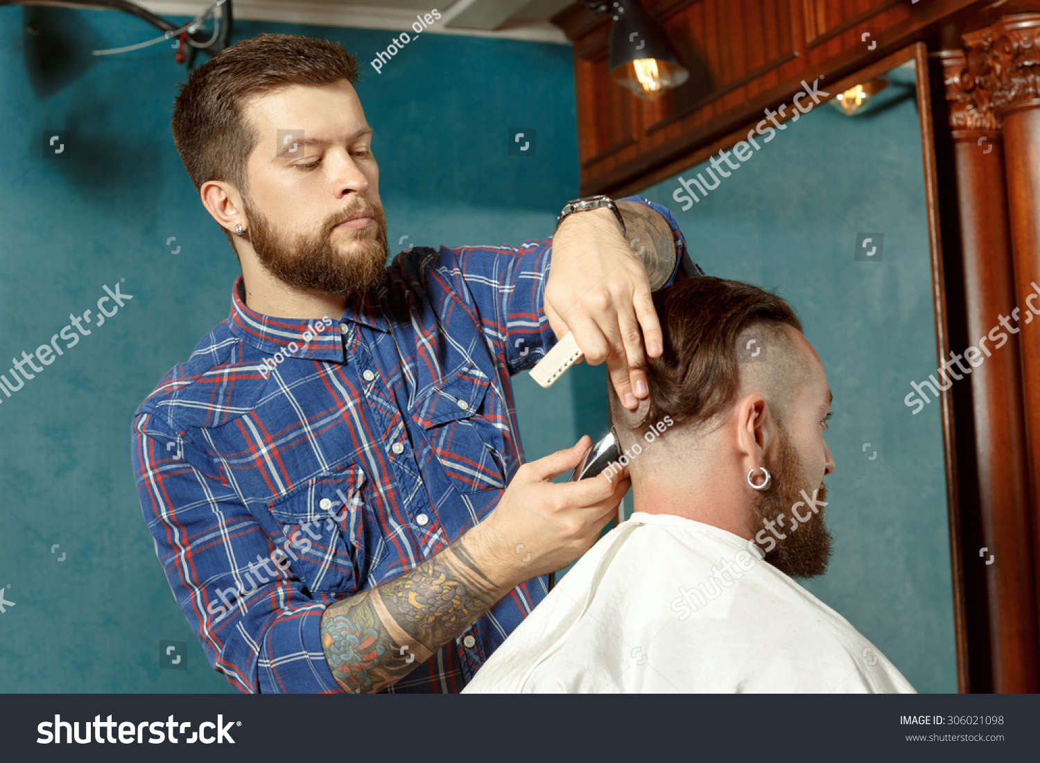 New Haircut Style Barber Shop Stock Photo Edit Now 306021098
