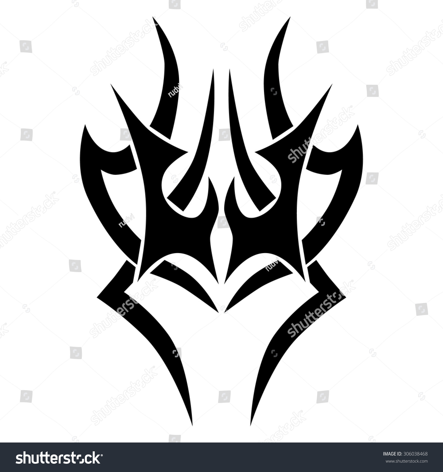 Tribal Designs Tribal Tattoos Art Tribal Stock Vector