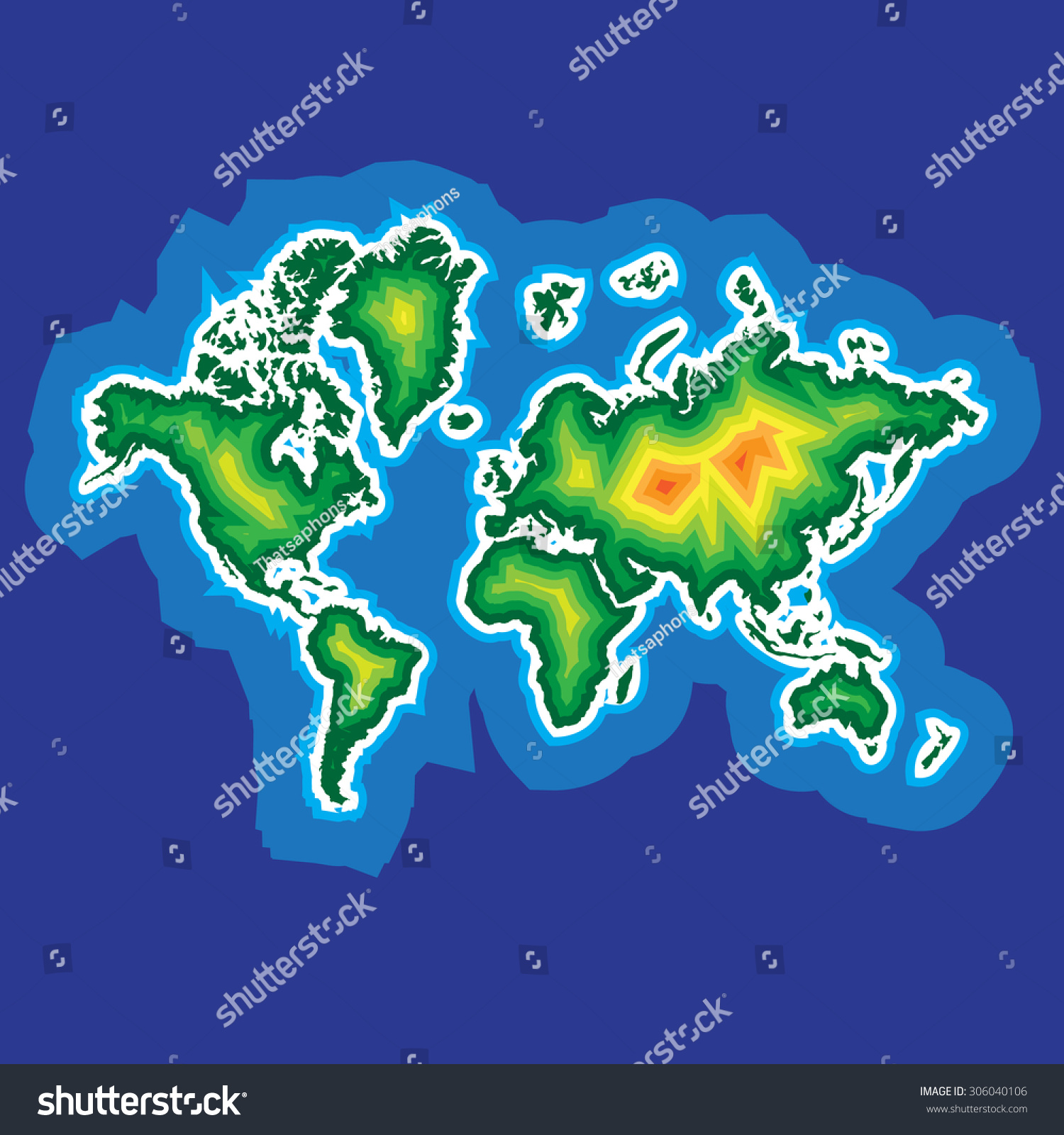 Color layer world map web mobile stock vector 306040106 shutterstock color layer world map for web and mobile app illustration vector gumiabroncs Gallery