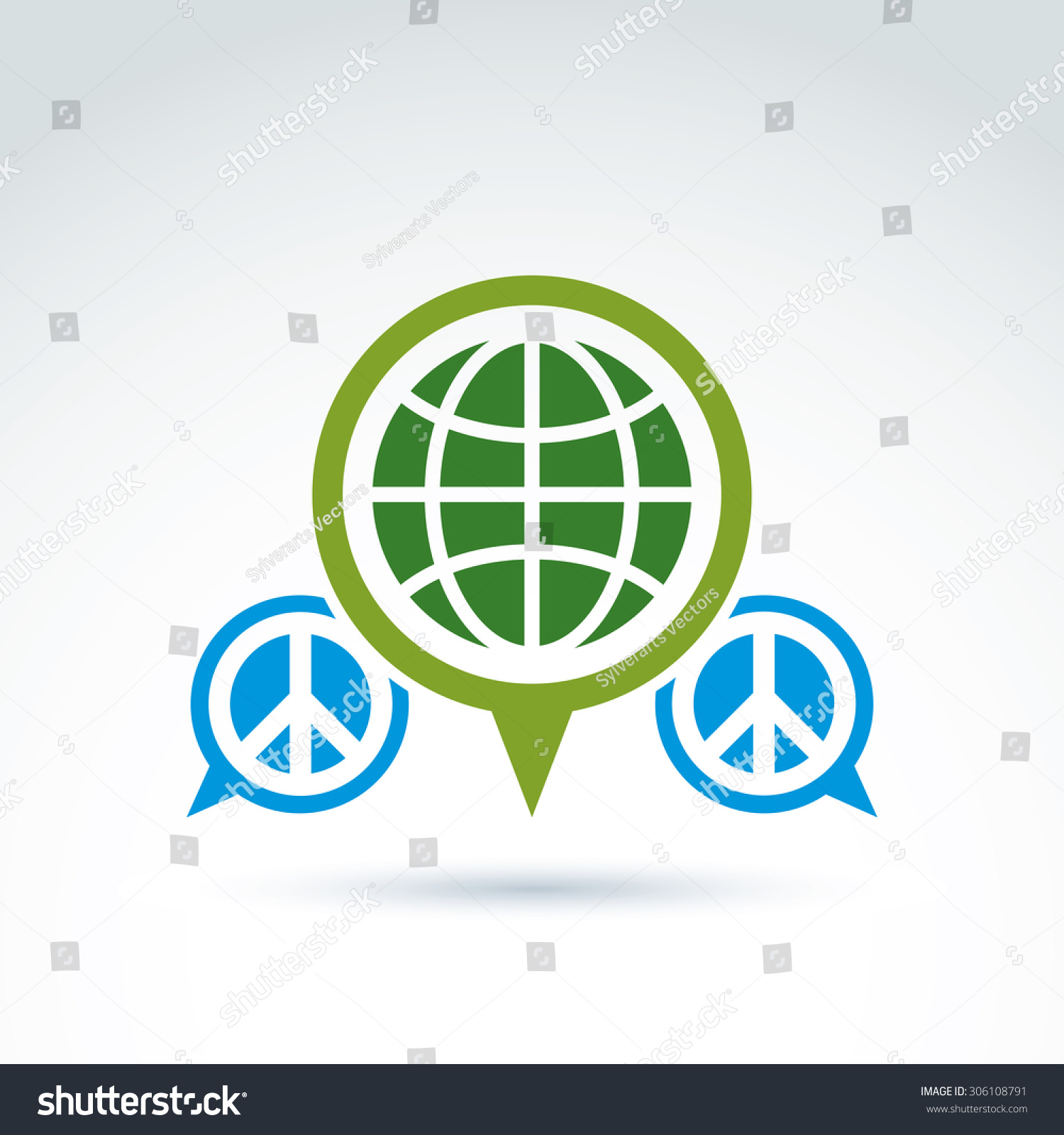 Peace world global peace icon vector stock vector 306108791 peace for world global peace icon vector conceptual unusual symbol for your design buycottarizona Gallery