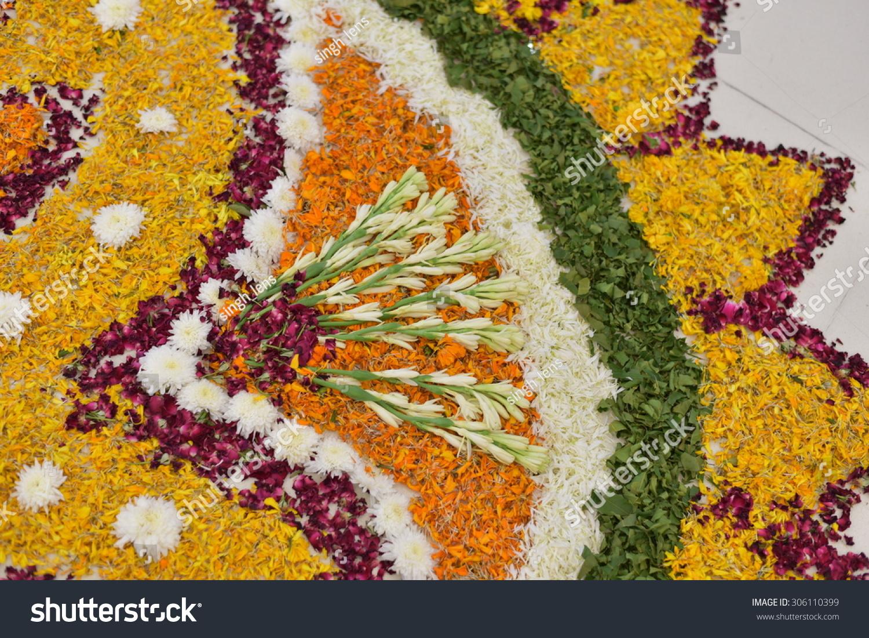 Hand Made Rangoli Design Flower Petals Stock Photo Edit Now