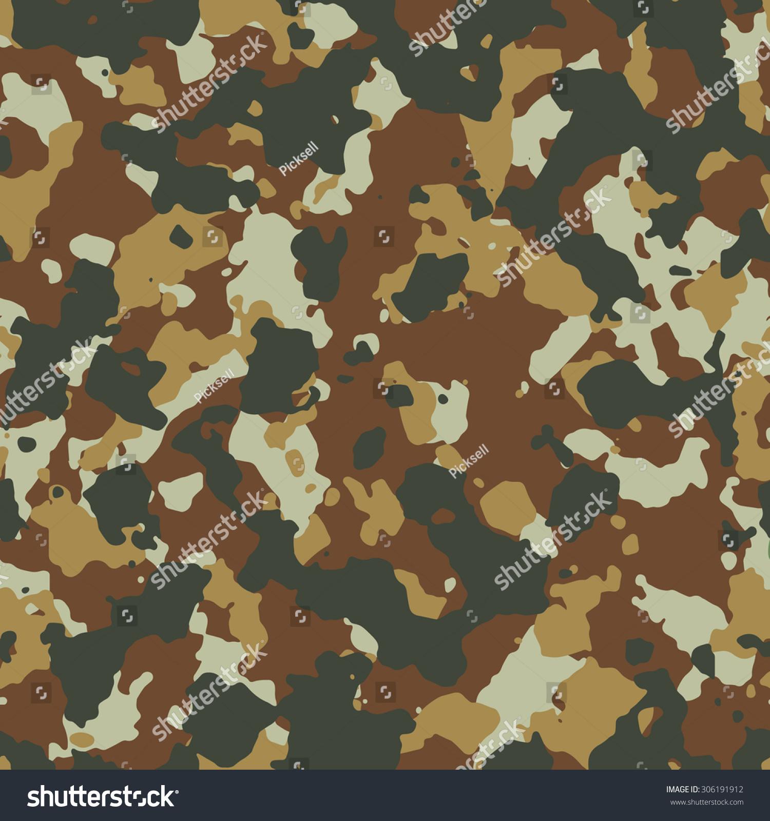 Seamless Dark Desert Fashion Camouflage Pattern Vector