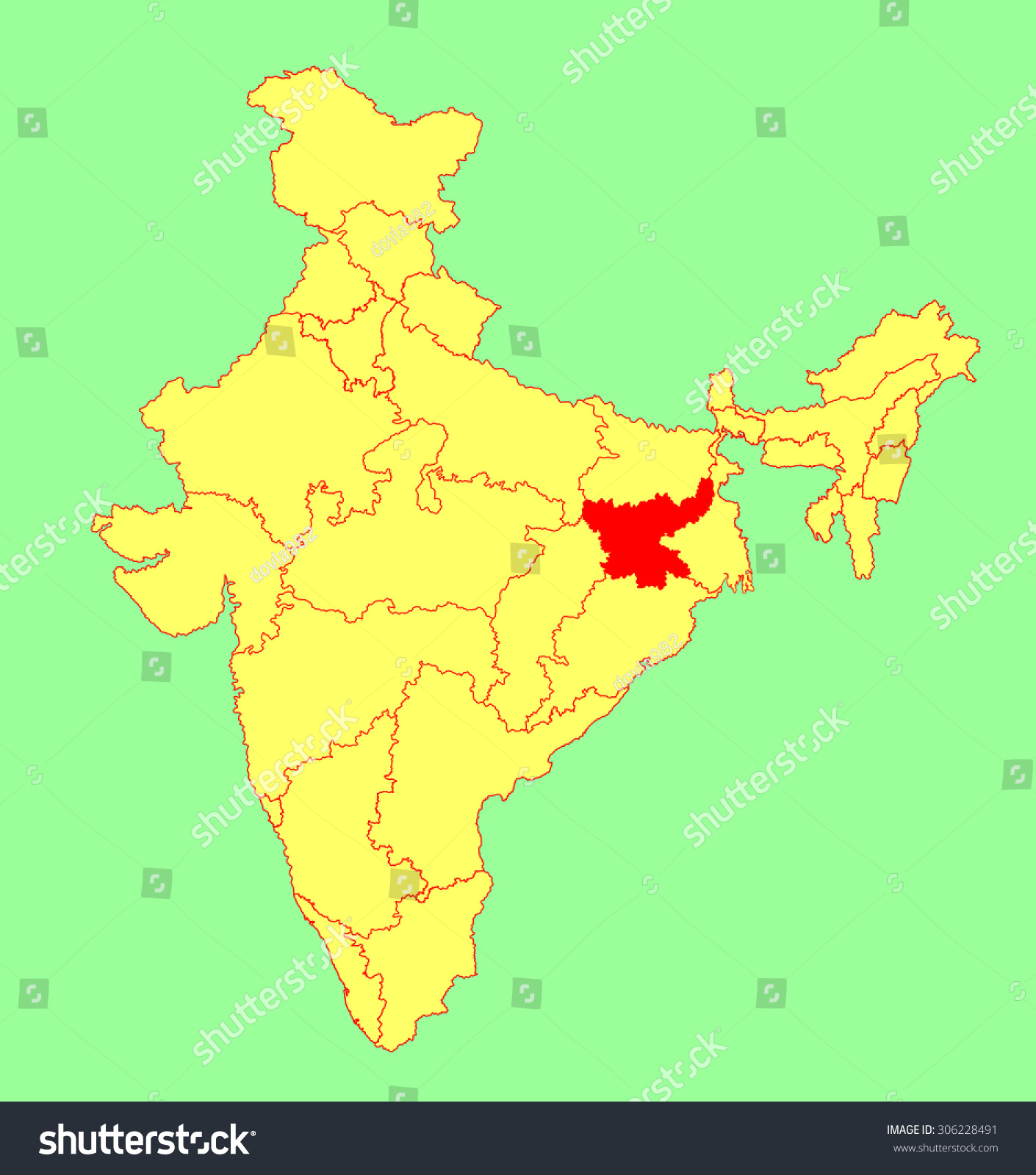 map of noida india and flag