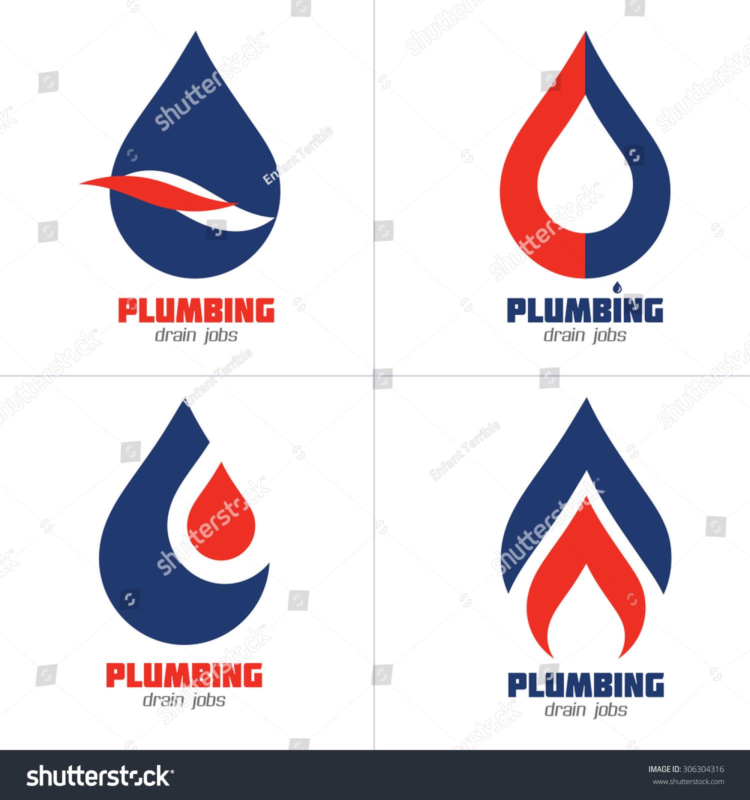 plumbing business icon vector set plumbing stock vector 306304316 shutterstock. Black Bedroom Furniture Sets. Home Design Ideas