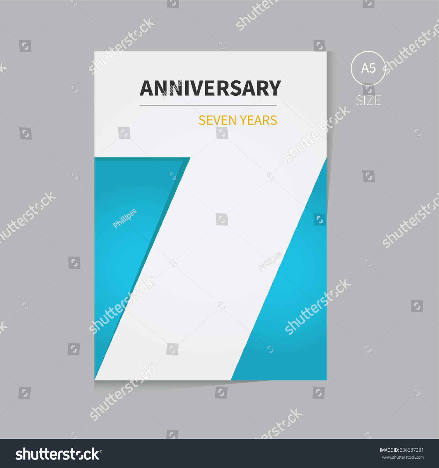 vector anniversary brochure template design clean stock vector vector anniversary brochure template design clean and modern flyer for business presentation anniversary event
