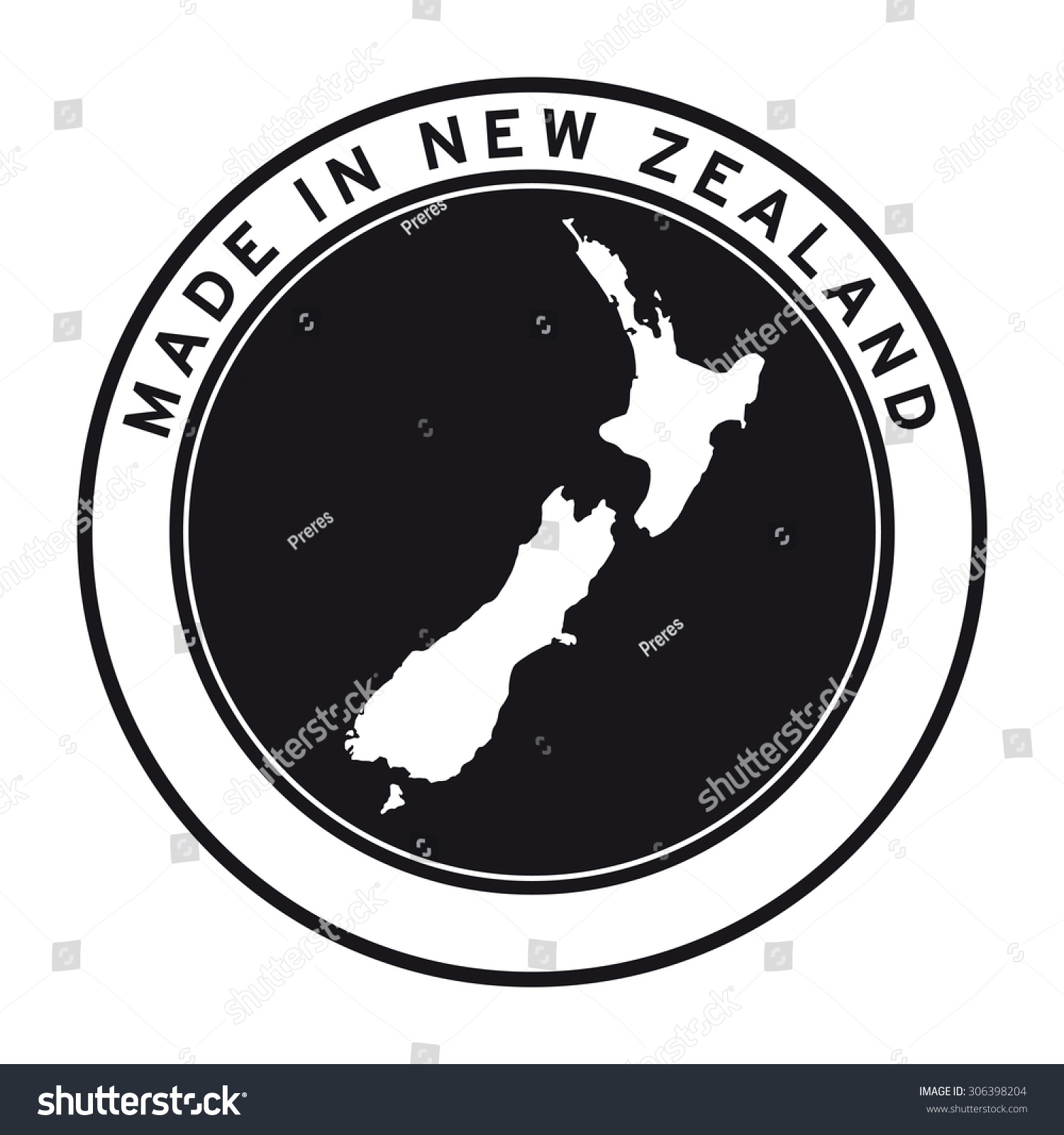 Made in new zealand vector logo sticker button