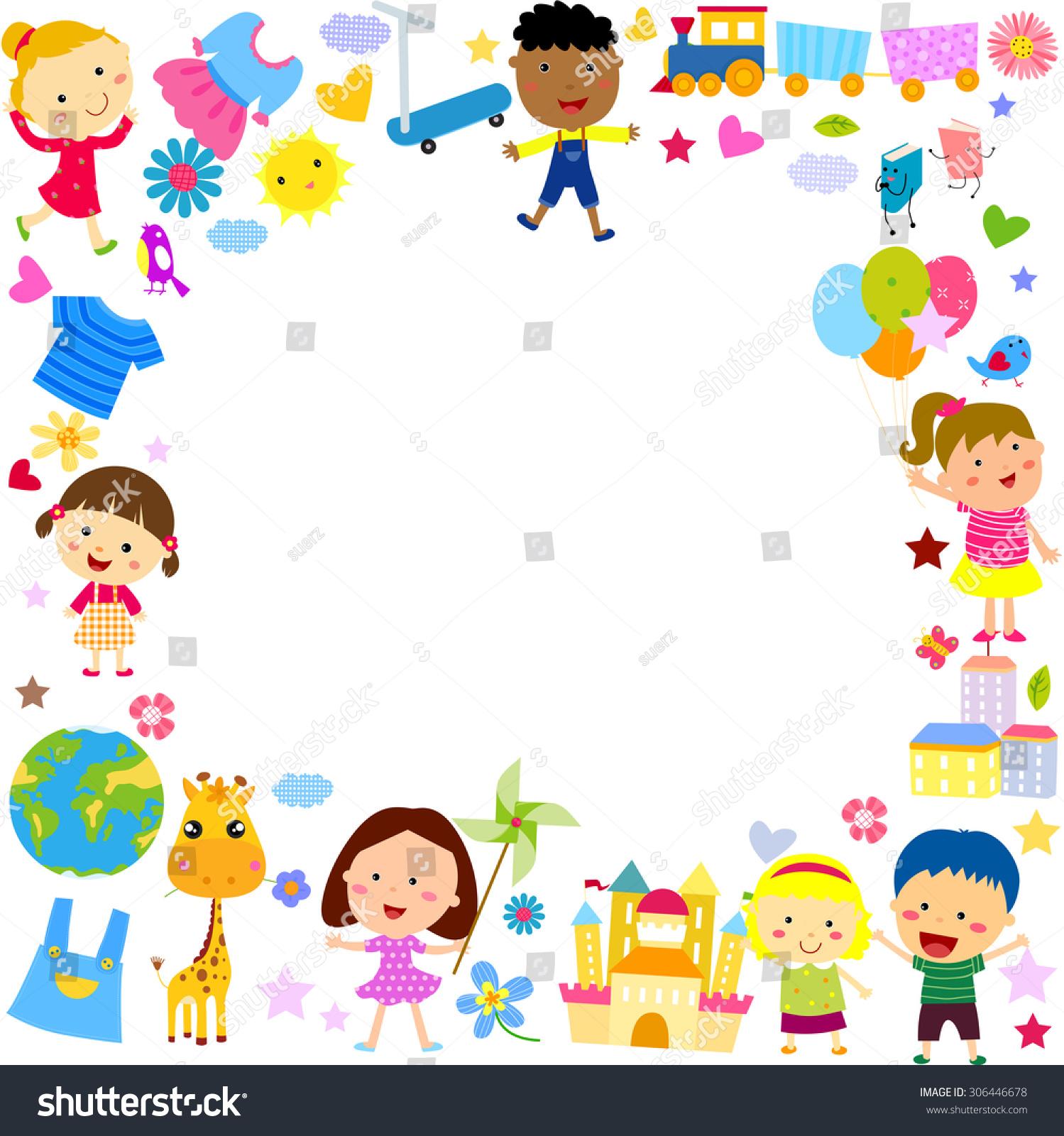 Kids Frame Stock Vector (Royalty Free) 306446678 - Shutterstock