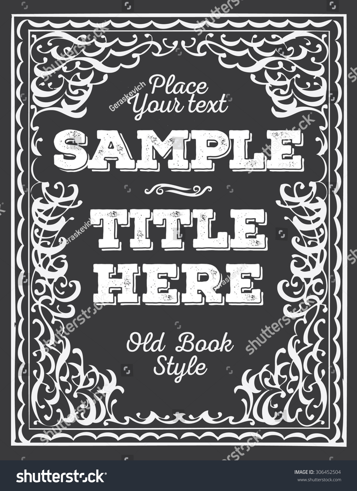 old book cover template